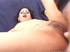 Naughty arab slut getting her hairy wet