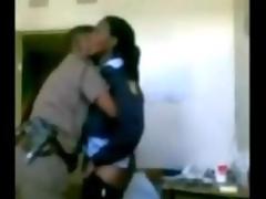Police boss enjoying dame junior officer hidden cam
