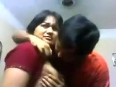 Indian Bhabi n Devar At Home Giving A Kiss & titties deepthroat