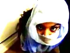 Amateur jism shot on her veil