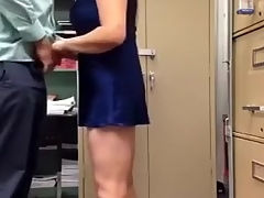 Busty Aunty Playing Boss Weenie at Work Place