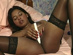 British Indian Lady Priscilla Masturbating