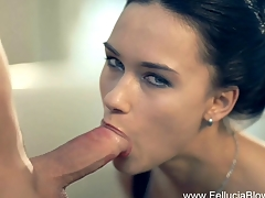 Brunette MILF Blows The Erotic