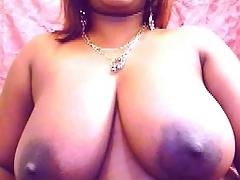 Buxomy Indian girl with big dark areolas