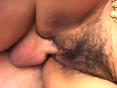 Cock Engulfing Hairy Pussy Indian Babe Screwed