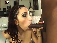 Juvenile slut gets her curvy white ass penetrated by a massive black dick